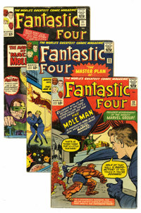 Fantastic Four Group (Marvel, 1964-65) Condition: Average VG-. Includes #22, 23, 24, 25 (first Hulk vs. Thing battle), 2...