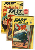 "Golden Age (1938-1955):Classics Illustrated, Fast Fiction #1-5 Group (Seaboard Pub., 1949-50). The complete runof the series, #1 (""The Scarlet Pimpernel,"" FR, bug chew)...(Total: 5 Comic Books)"