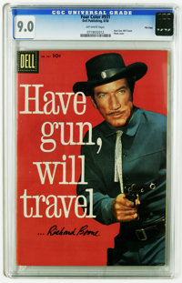 Four Color #931 Have Gun, Will Travel -- File copy (Dell, 1958) CGC VF/NM 9.0 Off-white pages. Photo cover. Overstreet 2...
