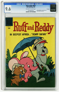 Four Color #937 Ruff and Reddy -- File copy (Dell, 1958) CGC NM+ 9.6 Off-white to white pages. First comic based on Hann...