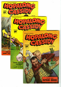 Hopalong Cassidy Group (Fawcett, 1948-49). Included are #23, 27, and 29, each is 52 pages and has a painted/photo cover...