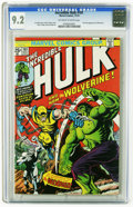 The Incredible Hulk #181 (Marvel, 1974) CGC NM- 9.2 Off-white to white pages. This comic ranks number one in the Top Ten...