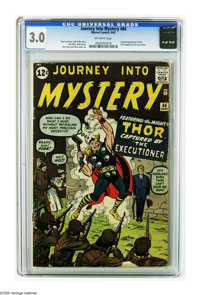 Journey Into Mystery #84 (Marvel, 1962) CGC GD/VG 3.0 Off-white pages. Second appearance of Thor. First appearance of Ja...