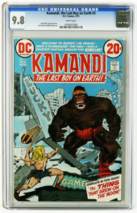 Kamandi, the Last Boy on Earth #3 (DC, 1973) CGC NM/MT 9.8 White pages. Jack Kirby story, cover, and art. This is curren...