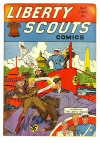 Liberty Scouts Comics #2 (#1) (Centaur, 1941) Condition: GD. Origins of the Fire-Man and Man of War. Vapo-Man and Libert...