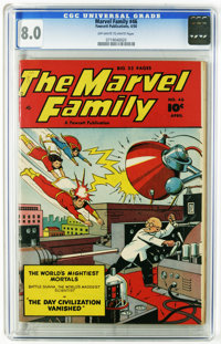 The Marvel Family #46 (Fawcett, 1950) CGC VF 8.0 Off-white to white pages. Overstreet 2005 VF 8.0 value = $98. CGC censu...