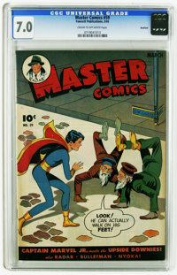 Master Comics #59 Rockford pedigree (Fawcett, 1945) CGC FN/VF 7.0 Cream to off-white pages. Overstreet 2005 FN 6.0 value...