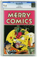 Golden Age (1938-1955):Miscellaneous, Merry Comics #nn Big Apple pedigree (Carlton Publishing, 1945) CGC NM+ 9.6 White pages. Boogeyman appearance. Overstreet 200...