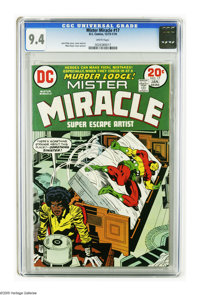 Mister Miracle #17 (DC, 1974) CGC NM 9.4 White pages. Jack Kirby story, cover, and art. Overstreet 2005 NM- 9.2 value =...