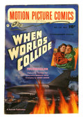 "Golden Age (1938-1955):Science Fiction, Motion Picture Comics #110 (Fawcett, 1952) Condition: VG. ""WhenWorlds Collide."" George Evans and Al Williamson art. Evans a..."