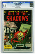 Golden Age (1938-1955):Horror, Out Of The Shadows #11 (Standard, 1954) CGC VF+ 8.5 Off-white towhite pages. Ross Andru cover. Alex Toth and Jack Katz art....