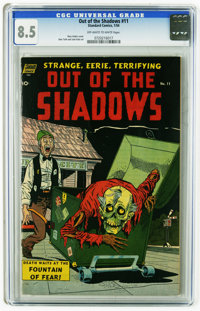 Out Of The Shadows #11 (Standard, 1954) CGC VF+ 8.5 Off-white to white pages. Ross Andru cover. Alex Toth and Jack Katz...