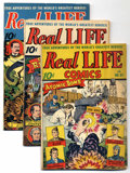 Golden Age (1938-1955):Non-Fiction, Real Life Comics Group (Nedor Publications, 1945-47). Groupincludes: #27 (GD/VG, atom bomb cover), 34 (Poor, missing many p...(Total: 6 Comic Books)