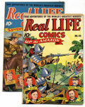 Golden Age (1938-1955):Non-Fiction, Real Life Comics #41 and 42 Group (Nedor Publications, 1947)Condition: Average FN. Group includes: #41 (Jimmy Foxx story) a...(Total: 2 Comic Books)