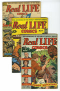 Golden Age (1938-1955):Non-Fiction, Real Life Comics #43, 44, and 51 Group (Nedor Publications,1947-49) Condition: Average VG. Group includes: #43, 44, and 51 ...(Total: 3 Comic Books)