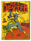 Golden Age (1938-1955):Science Fiction, Rex Dexter of Mars #1 (Fox Features Syndicate, 1940) Condition:GD/VG. First and only issue. Rex Dexter, Patty O'Day, and Za...