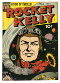 "Golden Age (1938-1955):Science Fiction, Rocket Kelly #1 (Fox Features Syndicate, 1944) Condition: VG/FN.Gerber has given this comic a ""rare"" status. Overstreet 200..."