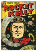 """Golden Age (1938-1955):Science Fiction, Rocket Kelly #1 (Fox Features Syndicate, 1944) Condition: GD+. A""""rare"""" comic as deemed by Gerber. Brittle pages. Overstreet..."""
