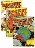 "Golden Age (1938-1955):Science Fiction, Rocket Kelly #3, 4, and 5 Group (Fox Features Syndicate, 1946)Condition: Average GD. All three of these books are deemed ""r...(Total: 3)"