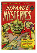 Golden Age (1938-1955):Horror, Strange Mysteries #5 (Superior, 1952) Condition: FN-. A peculiarhorror cover. Overstreet 2005 FN 6.0 value = $90....