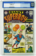 Silver Age (1956-1969):Superhero, Superboy Annual #1 (DC, 1964) CGC VF/NM 9.0 Off-white to white pages. Curt Swan cover. Overstreet 2005 VF/NM 9.0 value = $20...