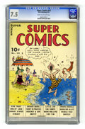"Golden Age (1938-1955):Cartoon Character, Super Comics #15 (Dell, 1939) CGC VF- 7.5 Cream to off-white pages.Rated ""scarce"" by Gerber. Dick Tracy, Little Orphan Anni..."