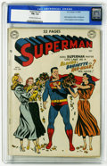 Golden Age (1938-1955):Superhero, Superman #61 (DC, 1949) CGC FN+ 6.5 Off-white to white pages. Origin retold. First appearance of Kryptonite. Superman return...