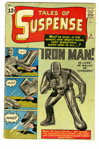 Tales of Suspense #39 (Marvel, 1963) Condition: FR. Origin and first appearance of Iron Man. Jack Kirby cover, interior...