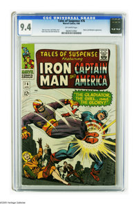Tales of Suspense #76 (Marvel, 1966) CGC NM 9.4 Off-white pages. First appearances of Batroc and Sharon Carter. Jack Kir...
