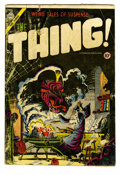 Golden Age (1938-1955):Horror, The Thing! #17 (Charlton, 1954) Condition: GD. A wizard bringsforth a monster on this Steve Ditko cover. Overstreet has dee...