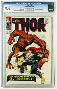 Thor #135 (Marvel, 1966) CGC NM+ 9.6 Off-white to white pages. High Evolutionary appearance. Jack Kirby cover and art. T...
