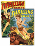 Golden Age (1938-1955):Adventure, Thrilling Comics #60 and 65 Group (Better Publications, 1947-48) Condition: Average VG. The exciting Princess Pantha appears... (Total: 2 Comic Books)