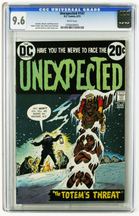 Unexpected #147 (DC, 1973) CGC NM+ 9.6 White pages. Nick Cardy cover. Ruben Yandoc, Ross Andru, Tony DeZuniga, and Rico...