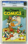 "Golden Age (1938-1955):Cartoon Character, Walt Disney's Comics and Stories #24 Carson City pedigree (Dell, 1942) CGC VF+ 8.5 Cream to off-white pages. ""The Flying Gau..."