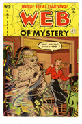 Golden Age (1938-1955):Horror, Web of Mystery #7 (Ace, 1952) Condition: VG. Cover art features acreepy mummy bursting out his coffin. Overstreet 2005 VG 4...