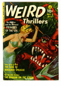 "Golden Age (1938-1955):Horror, Weird Thrillers #3 (Ziff-Davis, 1952) Condition: GD/VG. Overstreethas deemed this cover ""classic."" Bob Powell and George Tu..."