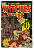 Golden Age (1938-1955):Horror, Witches Tales #15 (Harvey, 1952) Condition: FN. A gruesome monsterappears on the cover of this pre-code horror Harvey book....