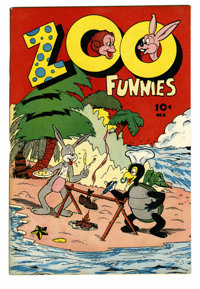"Zoo Funnies #2 (Charlton, 1945) Condition: VF/NM. Overstreet gives this cover a ""classic"" ranking. Overstreet..."