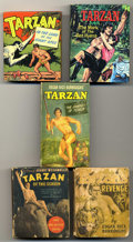 "Platinum Age (1897-1937):Miscellaneous, Big Little Book Tarzan Group (Whitman, 1934-67). Included are #1488(""Tarzan's Revenge,"" FR), 709-10 (""Tarzan and the Journe... (Total:5)"