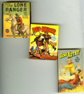 Golden Age (1938-1955):Miscellaneous, Big Little Book Westerns Group of 28 (Whitman, 1930s-60s) Condition: Average VG. Short comic box loaded with Western-themed ... (Total: 28)