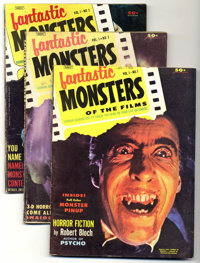 Fantastic Monsters of the Films #1-7 Group (Black Shield Publications, 1962-63) Condition: Average VF/NM. Includes #1, 2...