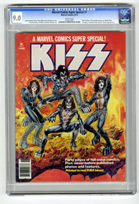 Marvel Comics Super Special #1 (Marvel, 1977) CGC VF/NM 9.0 White pages. Featuring the rock group Kiss. The ink used to...