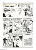 Original Comic Art:Panel Pages, Al Avison - Dick Tracy Monthly #29, page 27 Original Art (Harvey, 1950). J. Pierrpont Moneypacker has been murdered! Are you...