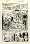 """Original Comic Art:Complete Story, John Belfi - Witches Tales #8, Complete 5-page Story """"The Witch WhoWore White"""" Original Art (Harvey, 1952). She may look li... (Total:5 Items)"""
