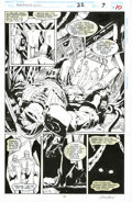 Original Comic Art:Panel Pages, Joe Bennett and Greg Adams - Ravage 2099 #22, page 10 Original Art (Marvel, 1994). A monster lurks in a chamber beneath a su... (Total: 2 Items)