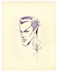 Original Comic Art:Sketches, Bill Everett - Sub-Mariner Sketch Original Art (1970). How can any true-blue comic art fan resist this superb portrait of on...