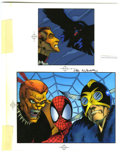 "Original Comic Art:Miscellaneous, Spider-Man Vs. Puma ""The Amazing Spider-Man"" Trading Card ColorGuide (Marvel, 1994). Puma, Spider-Man, and the Black Crow s..."