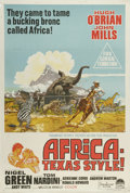 "Movie Posters:Adventure, Africa - Texas Style! (Paramount, 1967). Australian One Sheet (27""X 40""). This forerunner to the television series ""Cowboys..."