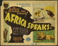 "Movie Posters:Documentary, Africa Speaks (Columbia, 1930). Lobby Cards (4) (11"" X 14""). Paul Hoefler leads an expedition across the jungles and plains ... (Total: 4 Items)"