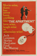"Movie Posters:Drama, The Apartment (United Artists, 1960). One Sheet (27"" X 41""). Jack Lemmon, Shirley MacLaine and Fred MacMurray star in this r..."
